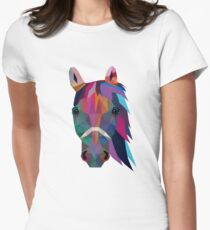 horse Tailliertes T-Shirt