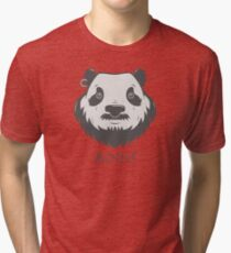 Panda Bear(d) Tri-blend T-Shirt