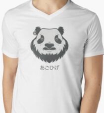 Panda Bear(d) V-Neck T-Shirt
