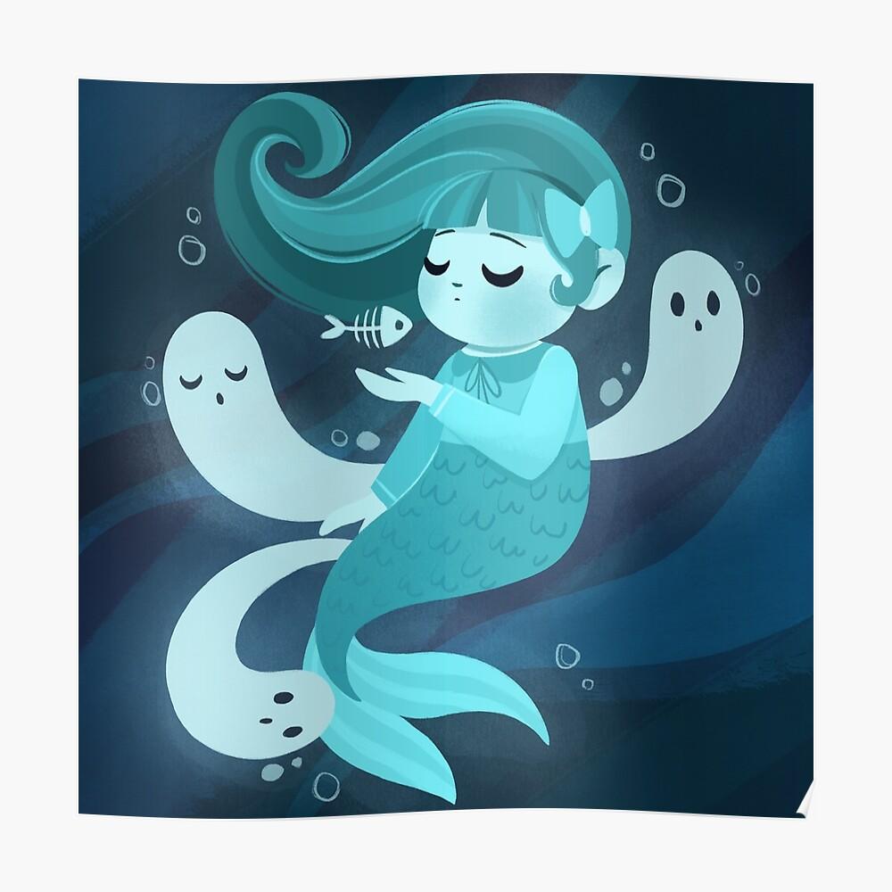Ghost Mermaid Poster