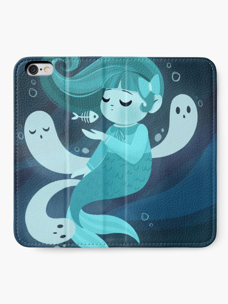 Alternate view of Ghost Mermaid iPhone Wallet