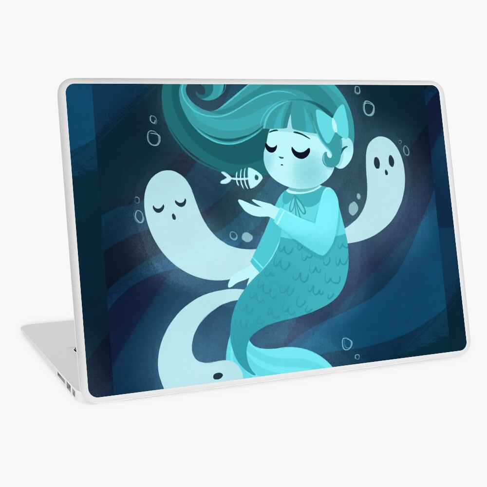 Ghost Mermaid Laptop Skin