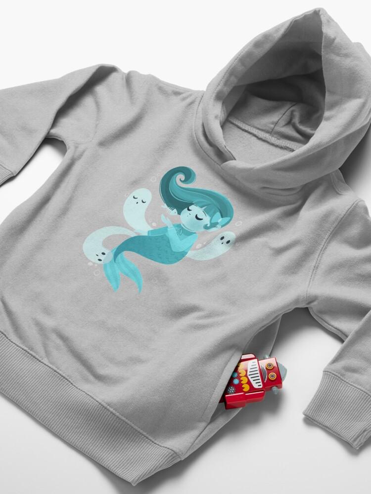 Alternate view of Ghost Mermaid Toddler Pullover Hoodie