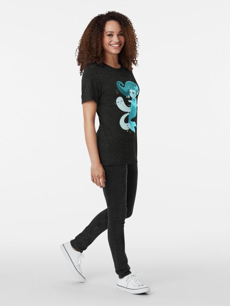Alternate view of Ghost Mermaid Tri-blend T-Shirt
