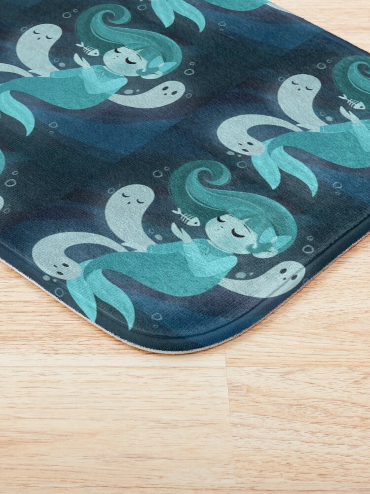 Alternate view of Ghost Mermaid Bath Mat