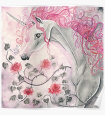 The Unicorn And The Roses Poster
