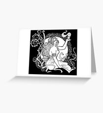Art Nouveau Cafe Greeting Card