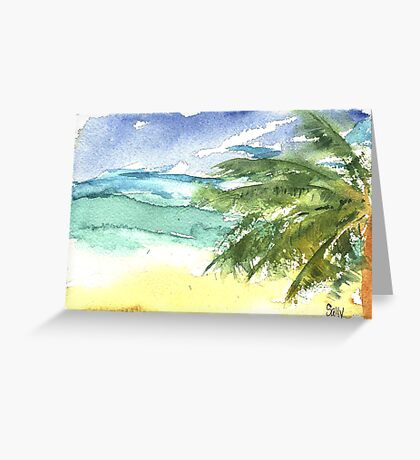 Sand and Salt Greeting Card