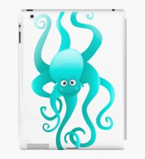 Funny blue octopus iPad Case/Skin