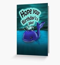 Whale Birthday Card (blank inside) Greeting Card