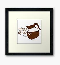 Coffee puns Framed Print