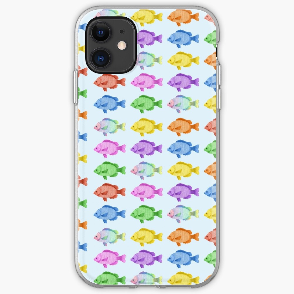 Peces multicolores Funda y vinilo para iPhone