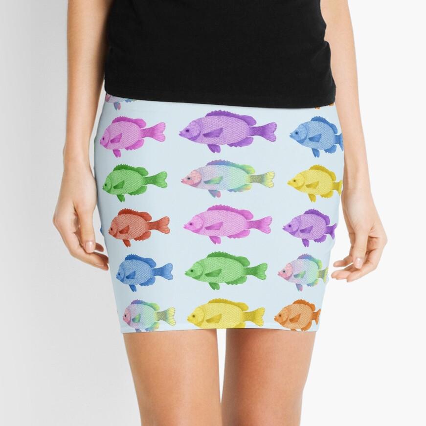 Peces multicolores Minifalda