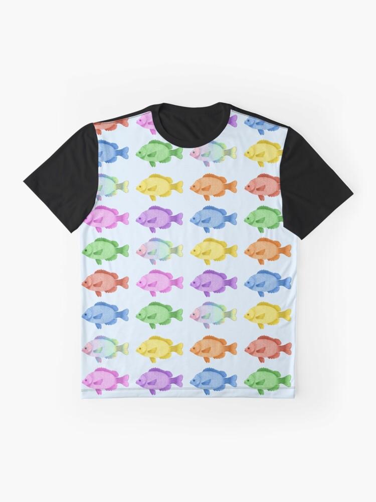 Vista alternativa de Camiseta gráfica Peces multicolores
