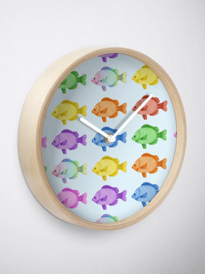 Vista alternativa de Reloj Peces multicolores