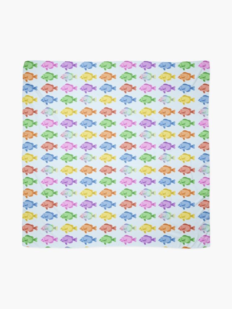 Vista alternativa de Pañuelo Peces multicolores