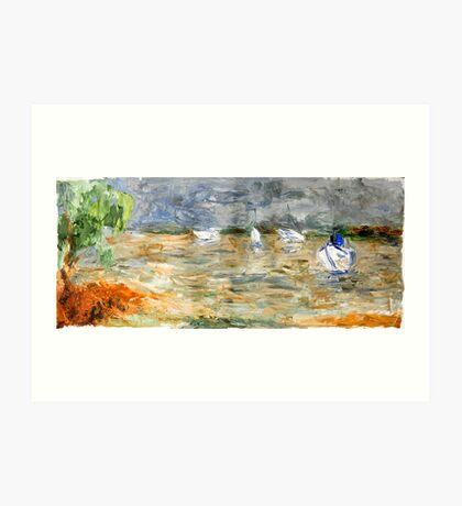 Noosa River before the storm. Art Print