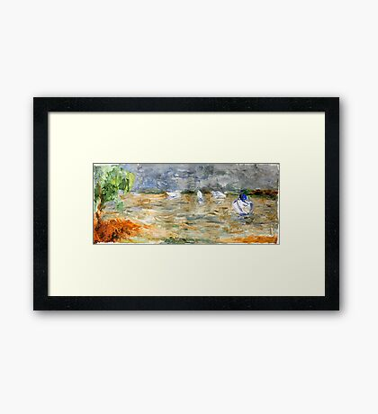 Noosa River before the storm. Framed Print