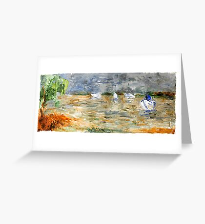 Noosa River before the storm. Greeting Card