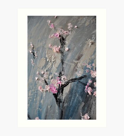 Tree in bloom zoomed part of the Gate Art Print