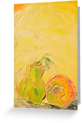 Apple and Pear now friends! by Stella  Shube As