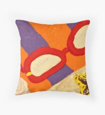 Beach Towel with Glasses, Seashell, and Starfish Throw Pillow