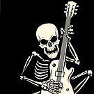 Skelett spielt Gitarre Rock Festival Poster. von devaleta