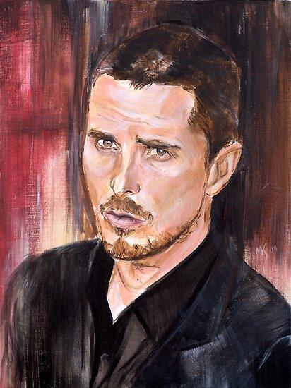 Christian Bale Portrait by Martin  Kumnick