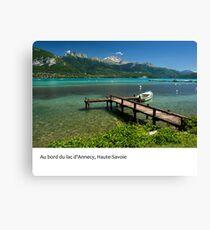 Le Lac d'Annecy, Haute-Savoie Canvas Print