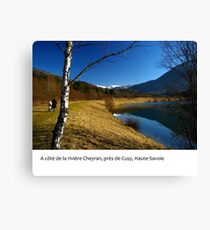 By the Cheyron River, near Annecy, Haute-Savoie Canvas Print