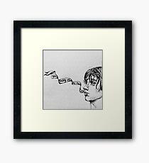 Julian Casablancas - Illustration (Electricityscape) Framed Print
