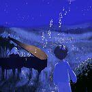 Piano au clair de lune - Moonlight piano by art-mella
