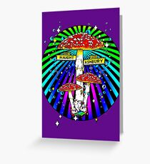 Haight Ashbury - Circle Greeting Card