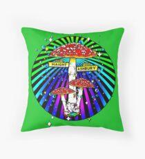 Haight Ashbury - Circle Throw Pillow