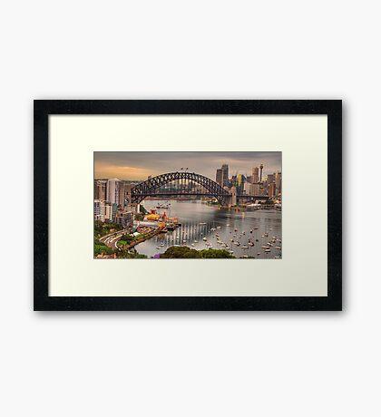 The Coathanger - Sydney Harbour Bridge, Sydney Harbour, Australia - The HDR Experience Framed Print