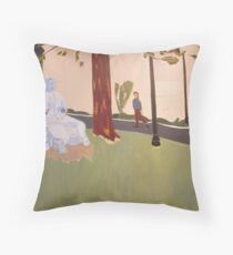 Behind the Community Center Theater Throw Pillow