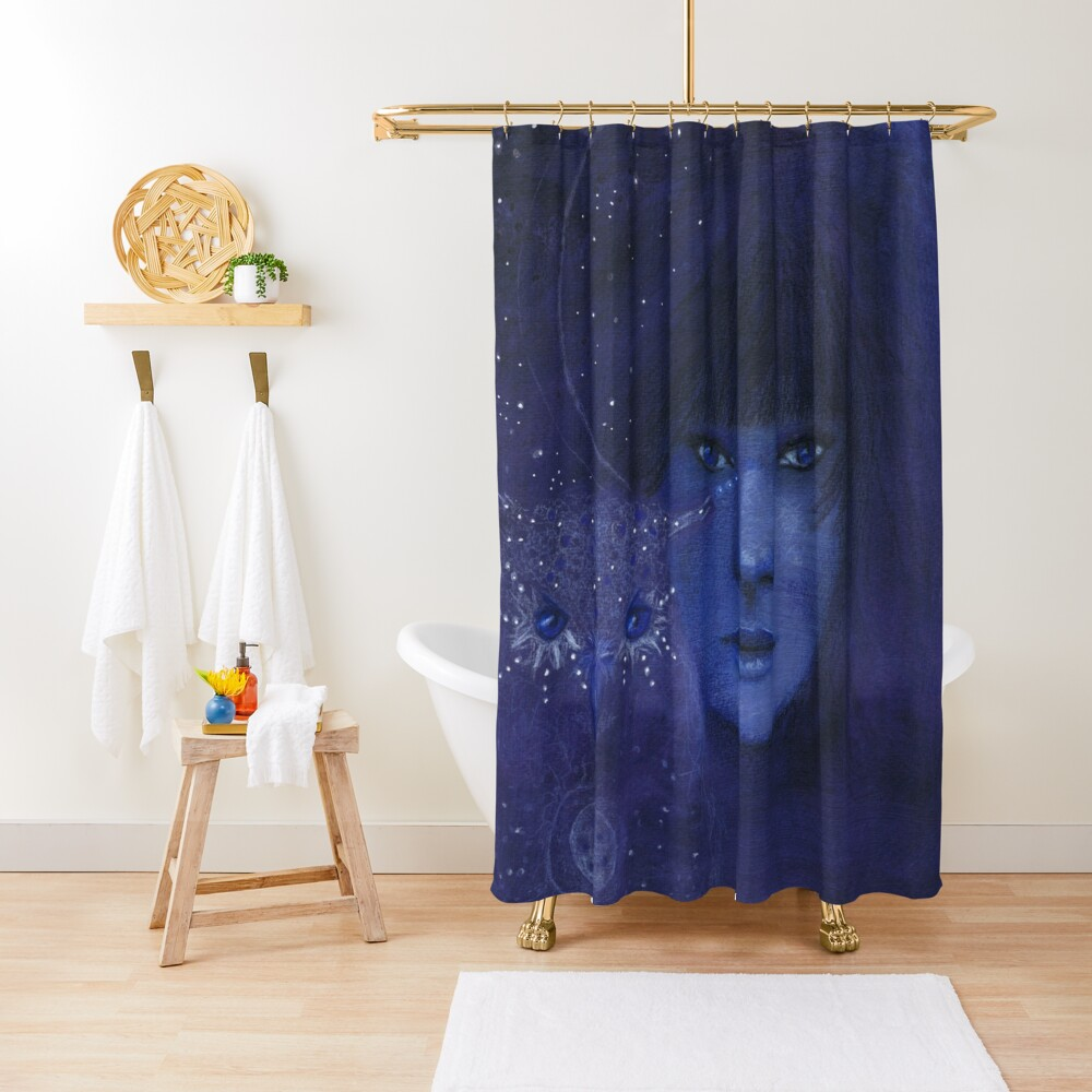 Cosmic friends Shower Curtain