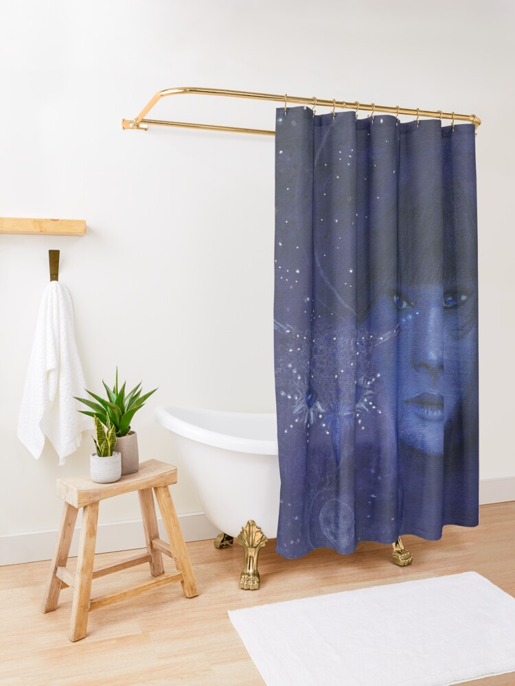 Alternate view of Cosmic friends Shower Curtain