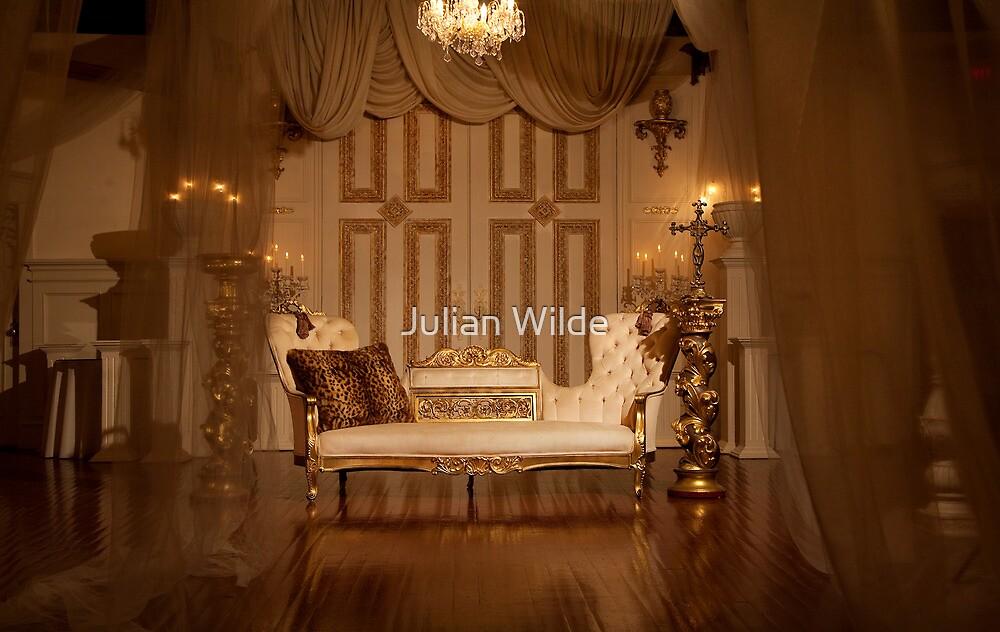 The White Velvet Sofa by Julian Wilde