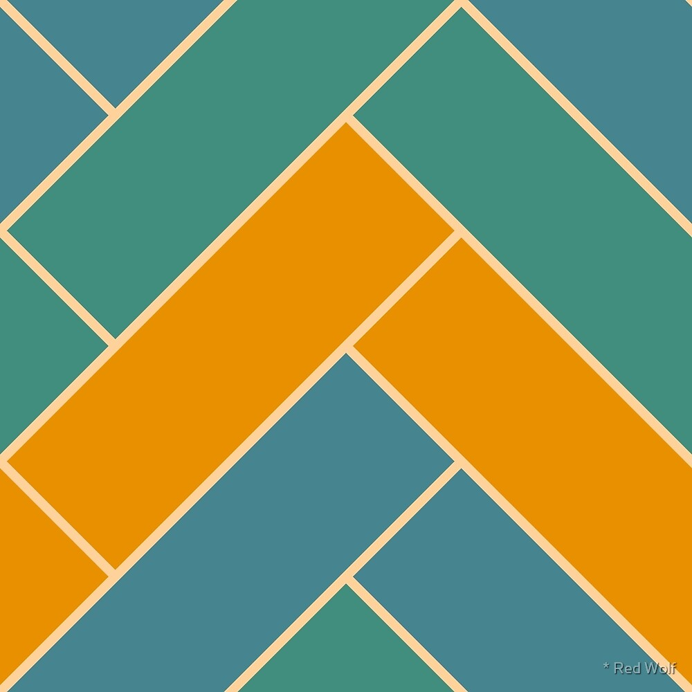 Geometric Pattern: Herringbone: Lily by * Red Wolf