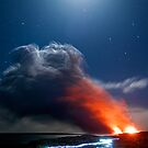 Kalapana Lava flow at night by Flux Photography