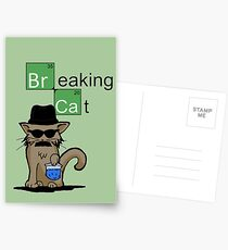Breaking Cat  Postcards