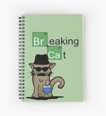 Breaking Cat  Spiral Notebook