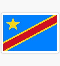Flag of the Democratic Republic of Congo (past Zaire) Sticker