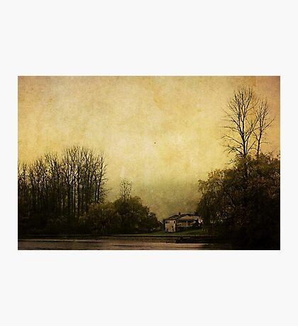 Farmhouse on the Lake Photographic Print