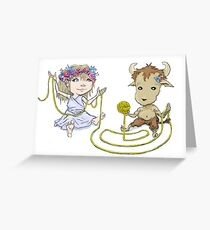 Ariadnae & Minotaur Greeting Card