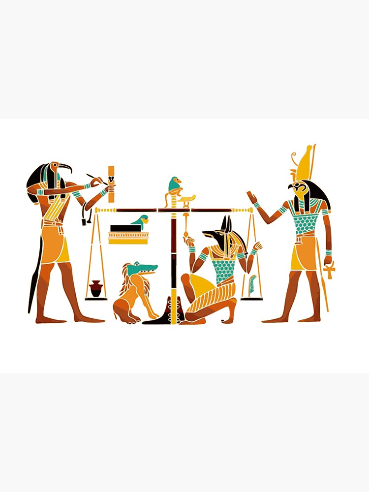WEIGHING THE SOUL, Egyptians, Egyptian. by TOMSREDBUBBLE