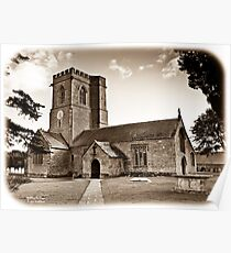 Church of St. Mary the Virgin - Antiqued print Poster