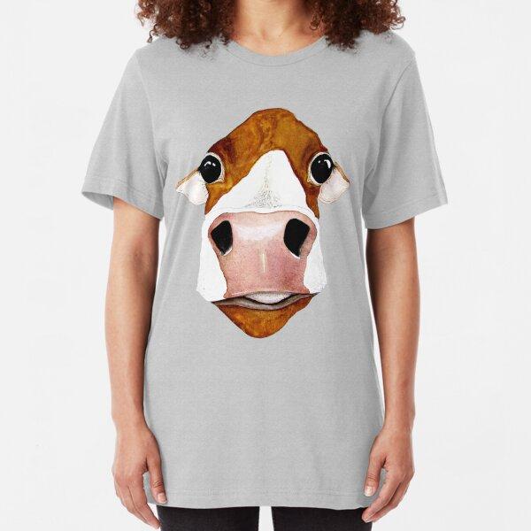 Derpy Cow Slim Fit T-Shirt