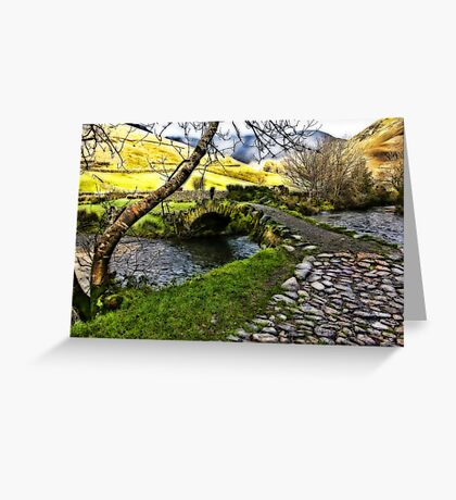 Bridge Approach  - Wasdale Head Greeting Card